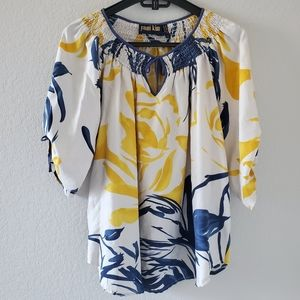 Yumi Kim flower print silk blouse